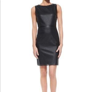 T Tahari Neala Dress, textured faux leather, 14